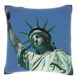 The Statue of Liberty New York City 18-inch Velour Throw Pillow