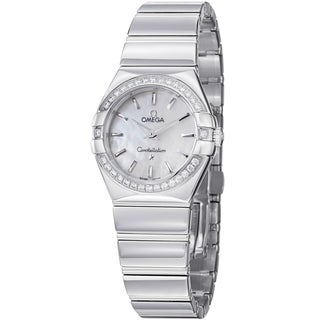 Omega Women's 123.15.27.60.05.002 'Constellation' Diamond Dial Stainless Steel Watch