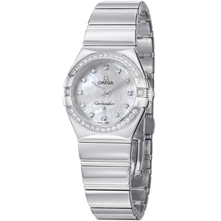 Omega Women's 123.15.27.60.55.003 'Constellation CC' Mother of Pearl Diamond Quartz Watch
