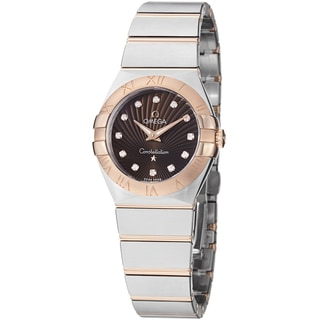 Omega Women's 123.20.27.60.63.001 'Constellation' Brown Diamond Dial Two Tone Watch