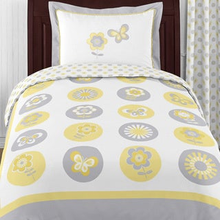 Sweet Jojo Designs Mod Garden 4-piece Twin Comforter Set