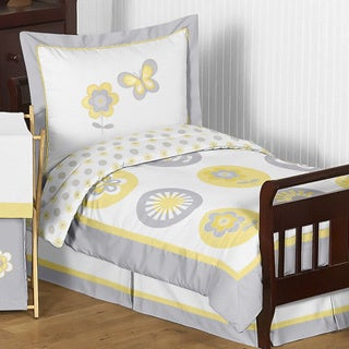 Sweet Jojo Designs Mod Garden 5-piece Toddler Comforter Set