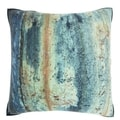 Textured Rust Surface 18-inch Velour Throw Pillow