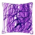Intertwined Purple Pattern 18-inch Velour Throw Pillow