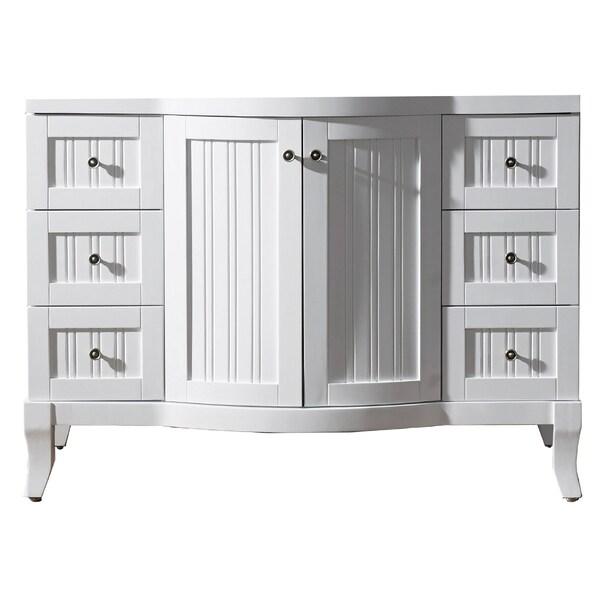 Virtu USA 'Khaleesi' 48-inch White Bathroom Cabinet