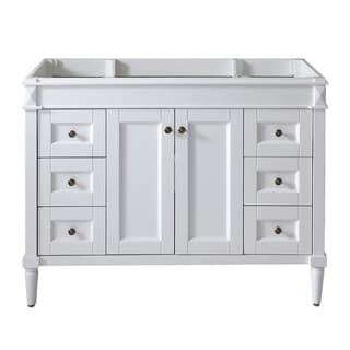 Virtu USA 'Tiffany' 48-inch White Bathroom Cabinet