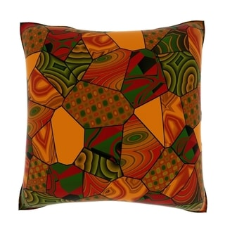 Abstract Brown Quilt 18-inch Velour Throw Pillow