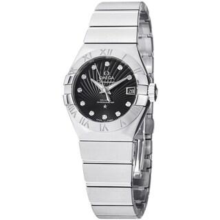 Omega Women's 123.10.27.20.51.001 'Constellation CC' Black Dial Diamond Bracelet Watch