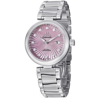 Omega Women's 425.30.34.20.57.001 'DeVille' Pink Mother of Pearl Diamond Dial Watch