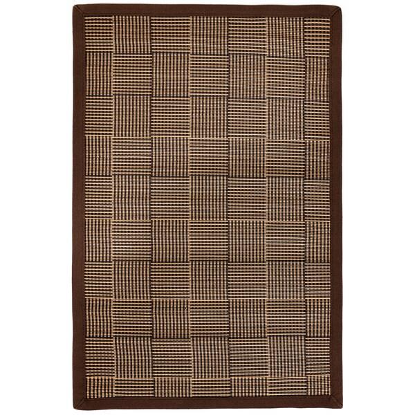 Pazi Brown/ Tan Bamboo Woven Area Rug (7' x 10')