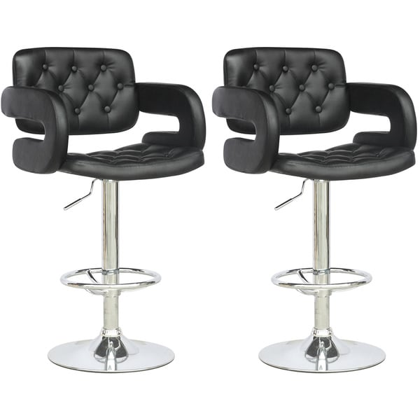 CorLiving Black Leatherette Tufted with Armrests  : CorLiving Black Leatherette Tufted with Armrests Adjustable Bar Stools Set of 2 a40d3c64 3525 456d 8000 18a9deb6306b600 from www.overstock.com size 600 x 600 jpeg 24kB