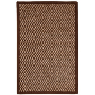 Ody Brown/ Light Brown Bamboo Diamond Pattern Rug (4' x 6')
