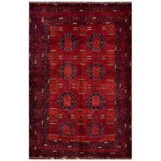 Afghan Hand-knotted Tribal Balouchi Rust/ Red Wool Rug (5'10 x 8'11)