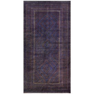 Afghan Hand-knotted Tribal Balouchi Blue/ Lavender Wool Rug (4'7 x 7'10)