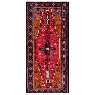 Afghan Hand-knotted Tribal Balouchi Red/ Grey Wool Rug (4'3 x 9'2)