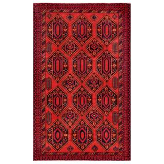 Afghan Hand-knotted Tribal Balouchi Orange/ Maroon Wool Rug (8'2 x 13'2)