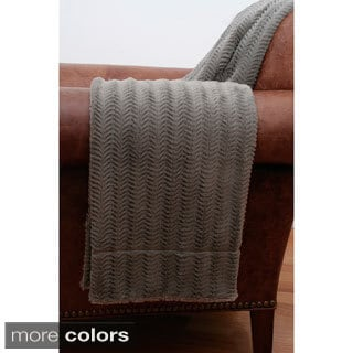 Fannie Fishbone Faux Fur Throw Blanket