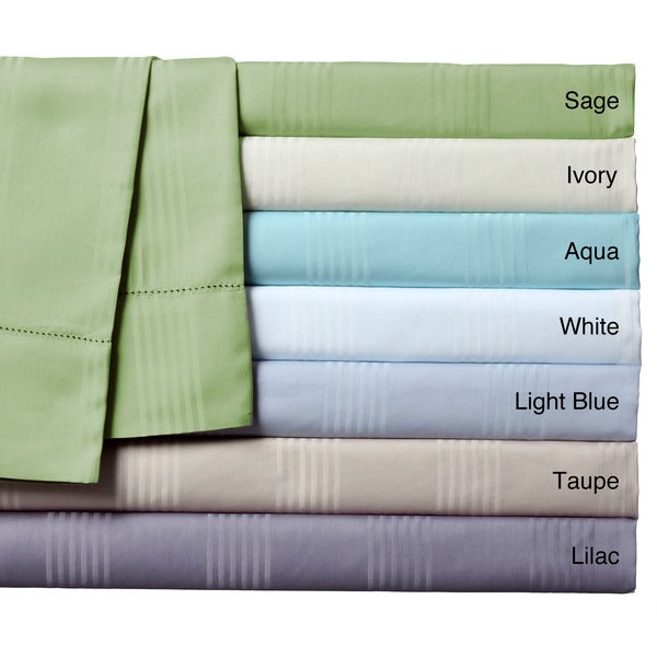 Sedona Woven Stripe Cotton Rich 400 Thread count 4-piece Sheet Sets