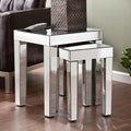 Upton Home Caden Mirrored Nesting Accent Table 2pc Set