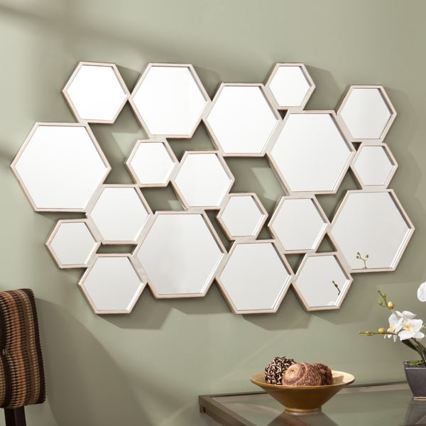Upton Home Essence Geometrical Honeycomb Mirror