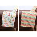 Leona Anchor Reversible Microplush Throw