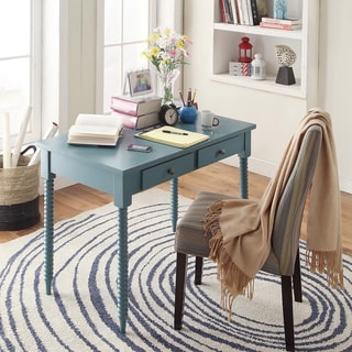 INSPIRE Q Clare Teal Helix Legs 2-drawer Office Desk