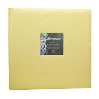 Kleer Vu Cloth Fabric Yellow Post Bound Scrapbook (12x12)