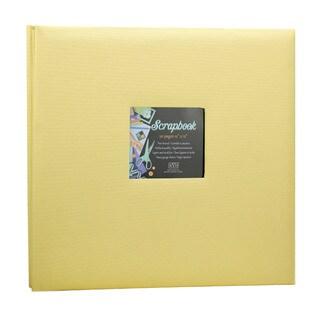 Kleer Vu Cloth Fabric Yellow Post Bound Scrapbook (12x12)