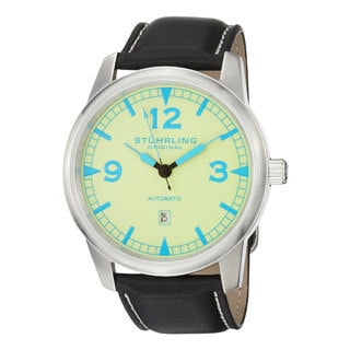 Stuhrling Original Men's Tuskegee Thunderbolt Automatic Movement Strap Watch