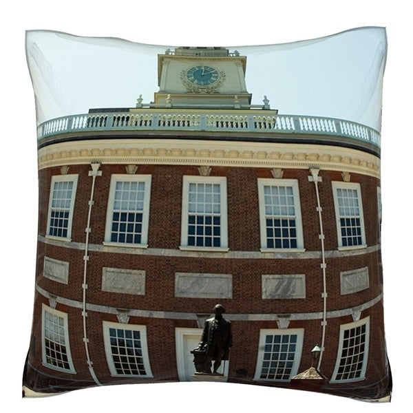 Independence Hall in Philadelphia, PA 18-inch Velour Throw Pillow