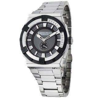 Stuhrling Original Men's Falcon Square Swiss Quartz Stainless Steel Bracelet Watch