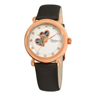 Stuhrling Original Women's Cupid Valentine Manual/Self-Winding Automatic Movement Strap Watch