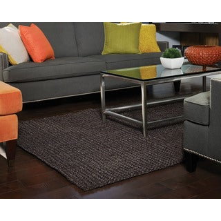 Reve Chocolate Brown Jute Boucle Rug (4' x 6')