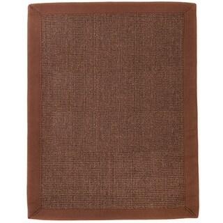 Reve Chocolate Brown Jute Boucle Rug (5' x 8')