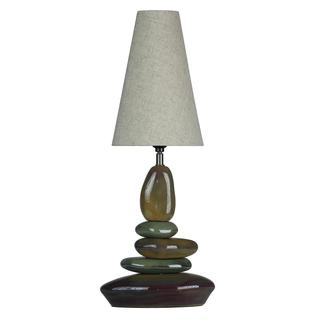 LumiRock Earthclops 1-light Earth Tones Table Lamp