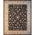 "Hand-knotted Wool and Silk China Floral Rug (7'9"" x 9'9"")"