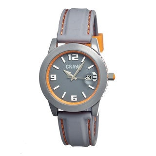 Crayo Men's Pop Grey Silicone Analog Watch