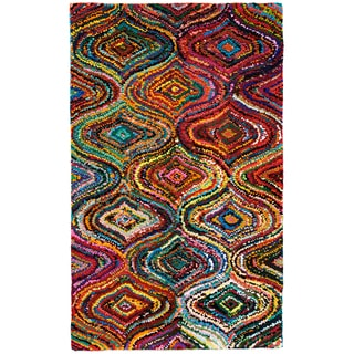Ante Multi-Colored Mod Geometric Pattern Recycled Cotton Rug (9'x12')