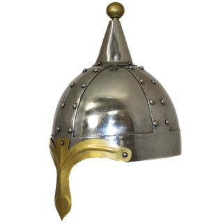 Hand-crafted 12th Century Crusades Steel Replica General's Helmet