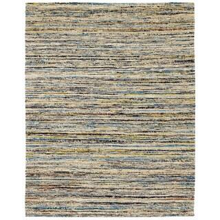 Paz Beige Sari Flatweave Rug (8'x10')