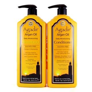 Agadir Argan Oil Daily Moisturizing 33-ounce Shampoo and Conditioner Set