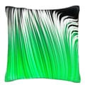 Green Linear Pattern 18-inch Velour Throw Pillow