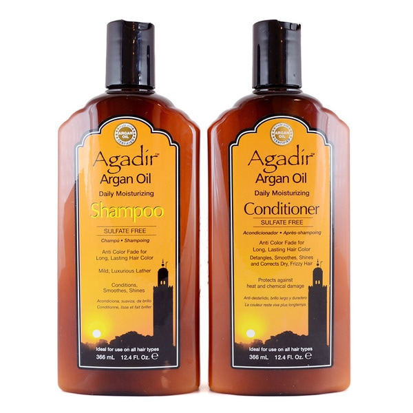 Agadir Daily Moisturizing Shampoo and Conditioner 12-ounce Duo