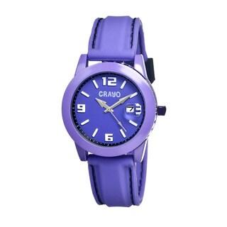 Crayo Women's 'Pop' Purple Silicone Analog Watch