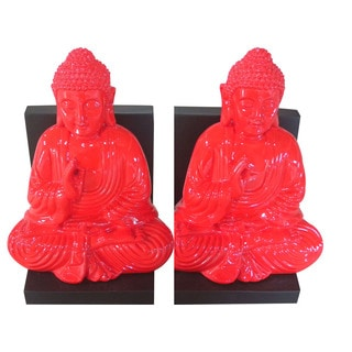 Red Buddha Bookend (Set of 2)