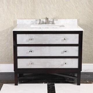 Modern Carrera White Marble Top 36-inch Single Sink Bathroom Vanity