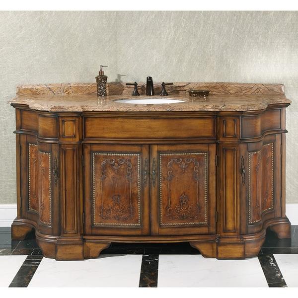 natural stone top 72 inch single sink vintage style bathroom vanity