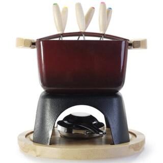 Danesco 1.5-quart Red Cast Iron 11-piece Meat Fondue Set
