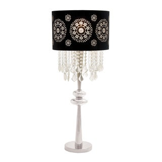 Casa Cortes Parisian 35-inch Contemporary Glass Pendant Table Lamp