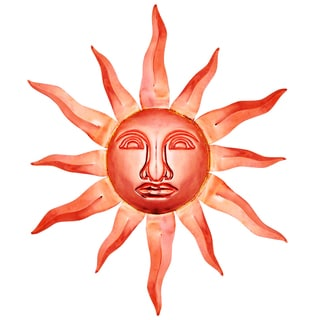 Polished Copper Medium Sunface Decorative Piece